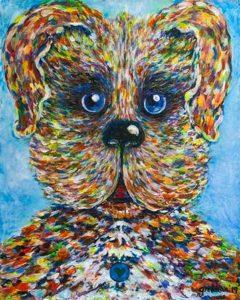 Rainbow Dog By Gretchan Pyne